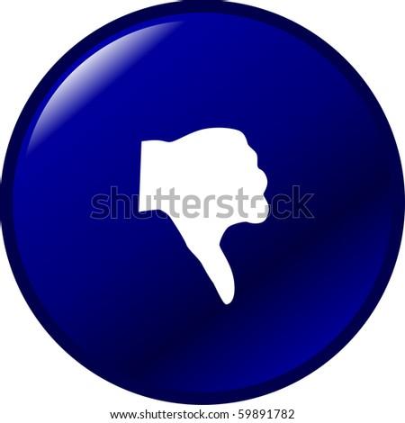 thumb down button - stock photo