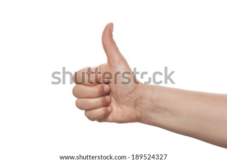 Thumb isolated on white background