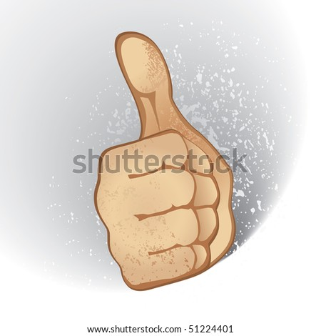 Thumb Up Gesture (Expressing Satisfaction, Approvement, Success) (in the gallery also available vector version of this image)