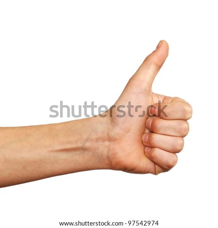 thumb up hand sign - stock photo