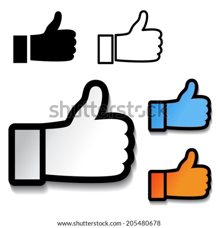 thumb up hand symbol, best choice button