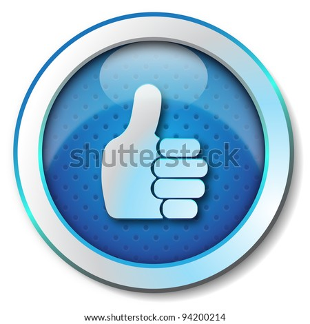 Thumb Up Icon - stock photo