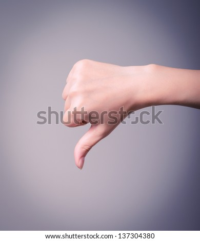 Thumbs Down - stock photo