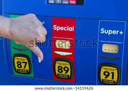 thumbs down at gas price