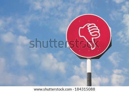 Thumbs Down Sign - stock photo