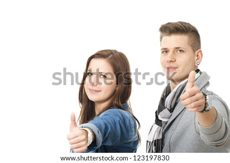 Thumbs up - stock photo