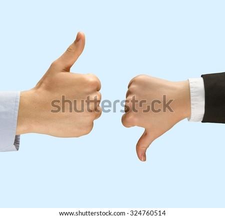 Thumbs Up. - stock photo