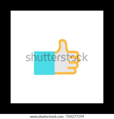 Thumbs Colorful Icon On White Square Stock Illustration 704277199