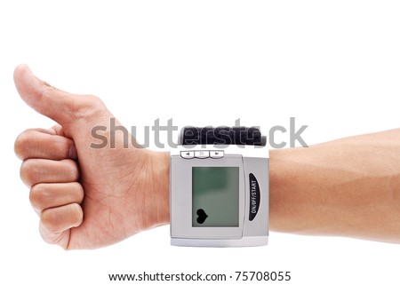 Thumbs Up for Healthy Blood Pressure - stock photo