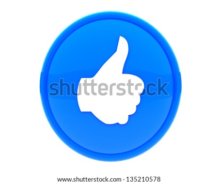 thumbs up like  - stock photo
