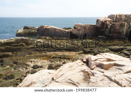 Thunder Hole in Acadia National Park at Maine