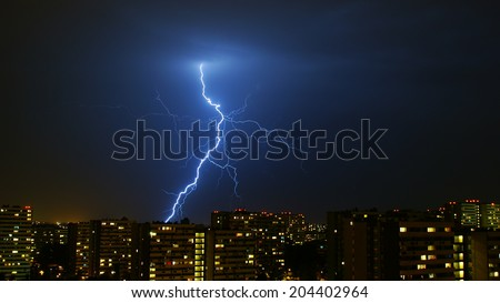 Thunder over the Katowice city