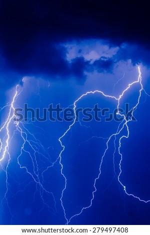 thunder rage - stock photo