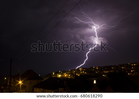 Thunder storm in Saltdean, Brighton