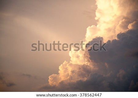 Thunderhead Heavenly Sky and White Storm Clouds Background Cloudy Skies Texture Skyscape Pattern