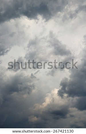 thunderstorm cloud - stock photo