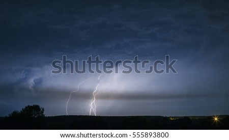 thunderstorm in the sky