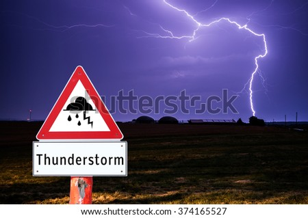 Thunderstorm Sign