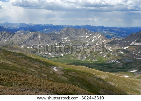 Thunderstorms approaching in the rocky mountains during summer monsoon season, American west - stock photo
