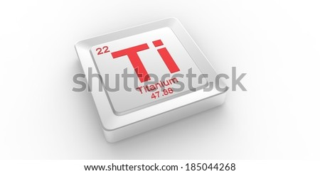 Ti symbol 22 material for Titanium chemical element of the periodic table - stock photo