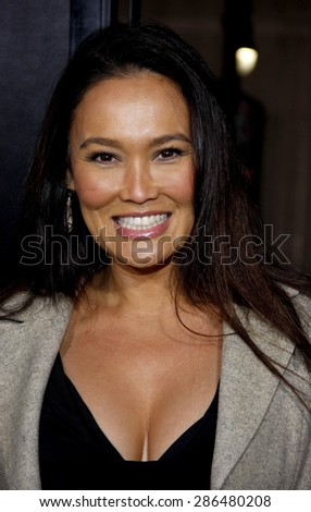 Tia Carrere at the Los Angeles premiere of 'The Fighter' held at the Grauman's Chinese Theatre in Hollywood on December 6, 2010. - stock photo