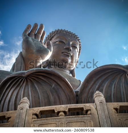 Tian Tan Buddha, Hong Kong - stock photo