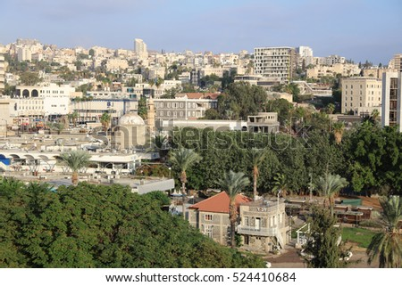 Tiberias, Israel  ?? October 31, 2016: View of Tiberias. Its a town located at the Sea of Galilee in Israel