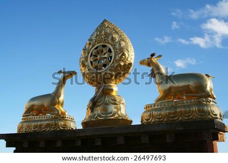 Tibet sculpture - stock photo