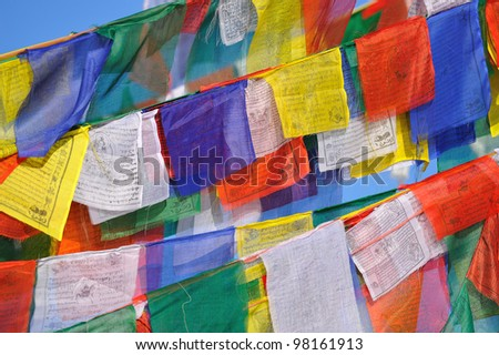tibetan prayer flags,Nepal