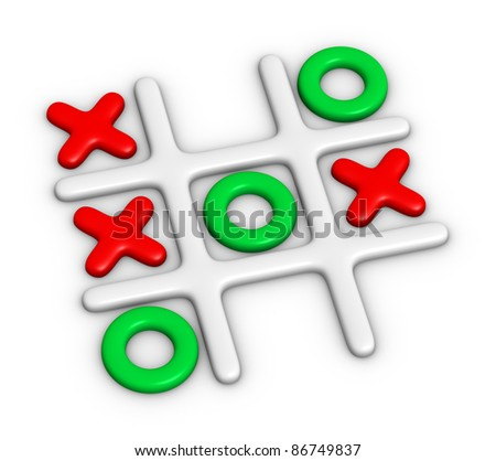 Tic-Tac-Toe colorful game - stock photo