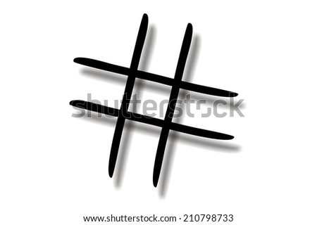 tic tac toe game silhouette