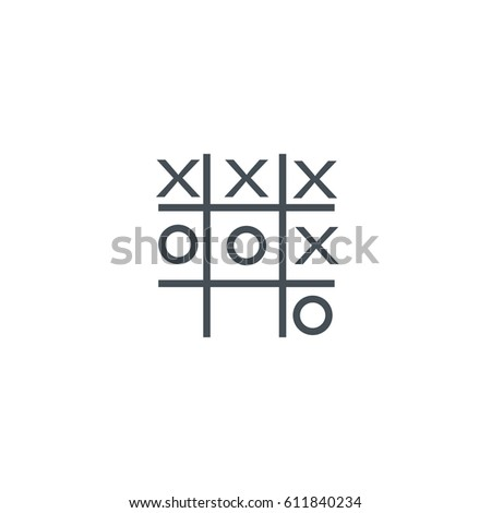 Tic Tac Toe Xo Icon Noughts Stock Vector 398004982 - Shutterstock