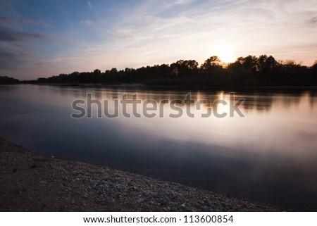 Ticino River - stock photo