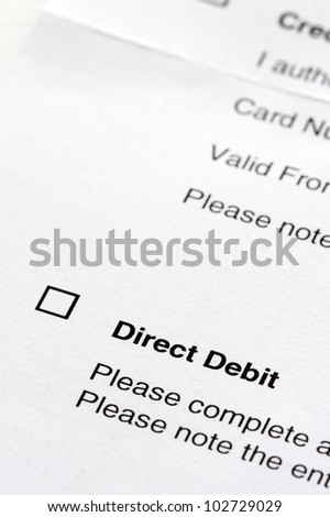 tick box on a direct debit instruction form