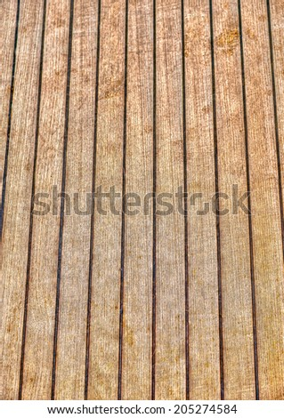 Tick Deck of a sailing boat. HDR processed - stock photo