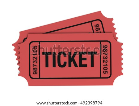 ticket concept 3d illustration