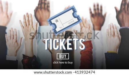 Ticket Coupon Concert Admit Theater Vacation Concept - stock photo