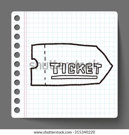 ticket doodle - stock photo