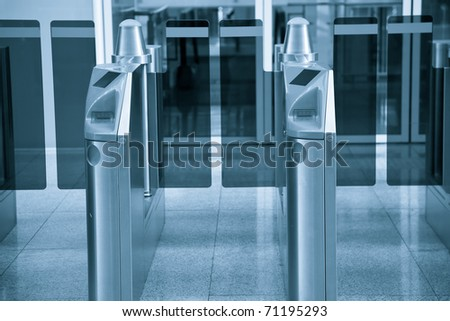 Ticket Gate in the railway station - stock photo