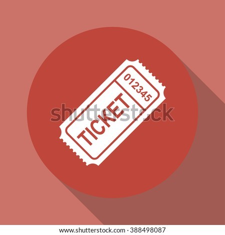 ticket icon. Flat design style