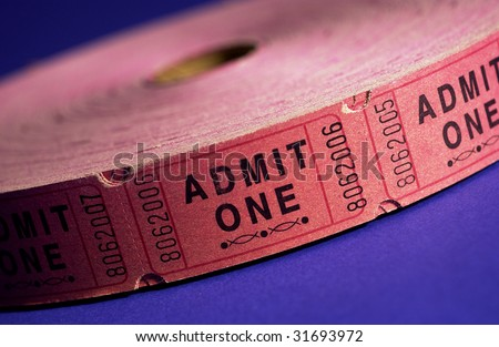 Ticket Roll - stock photo