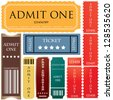 tickets in different styles - stock photo