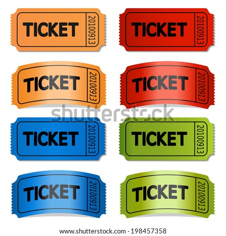 tickets, labels