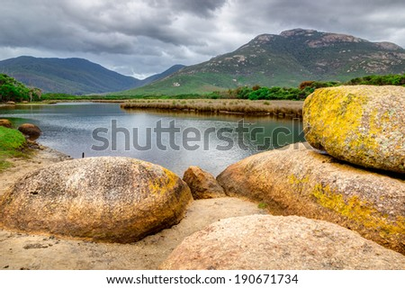 Tidal River in Wilsons Promontory National Park, Victoria, Australia - stock photo