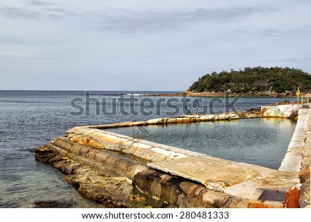 Tidal Swimming Pool at Shelly Beach, Manly, Sydney, Australia.