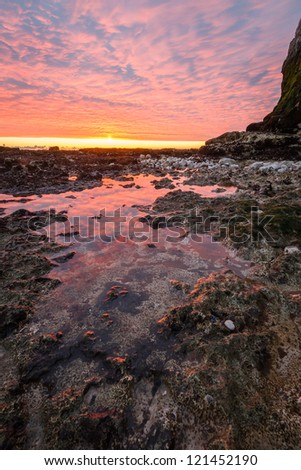 Tide Waters Are Coming, Broadstairs, Kent, UK - stock photo