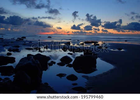 Tidepools at Sunset, Washington State - stock photo
