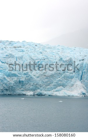 tidewater glacier front in south alaska