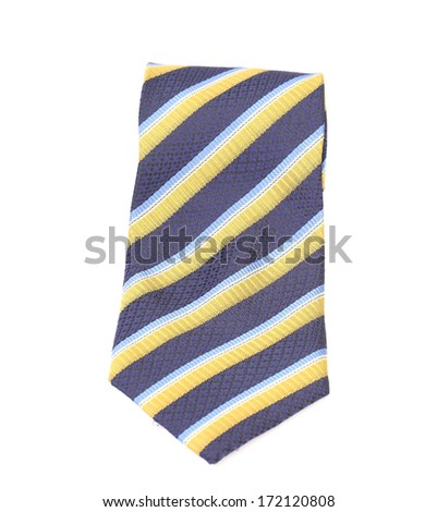 Tie a colorful striped. Isolated on a white background. - stock photo
