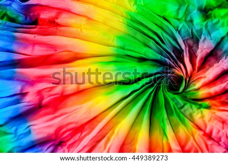 tie dye fabric with cool tie dye technical spiral pattern
